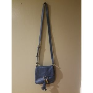 Tommy Hilfiger Blue Leather Crossbody
